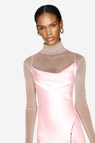SHIMMER TULLE TURTLENECK