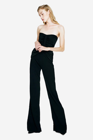 Strapless Silk Jumpsuit