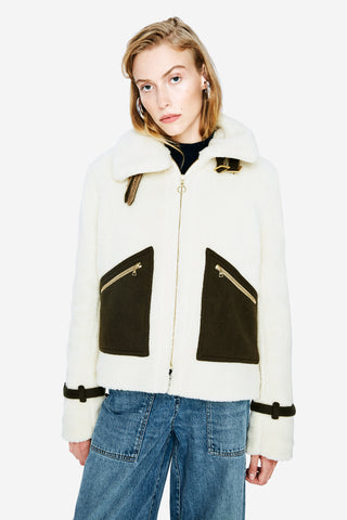 Faux-Shearling Outerwear Jacket