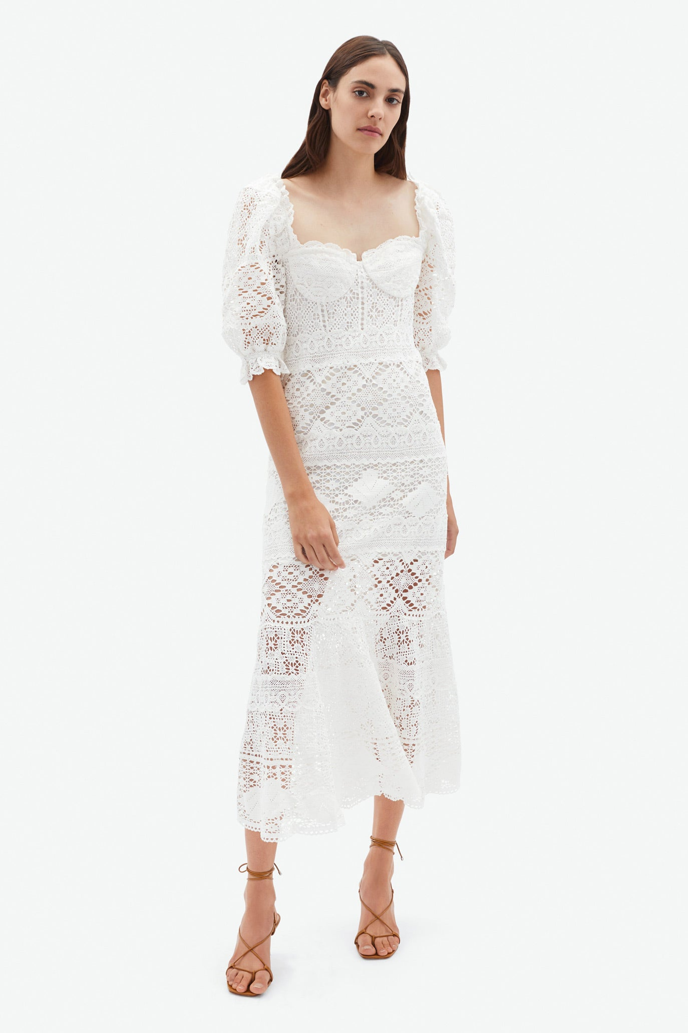 Eden Patchwork Lace Dress