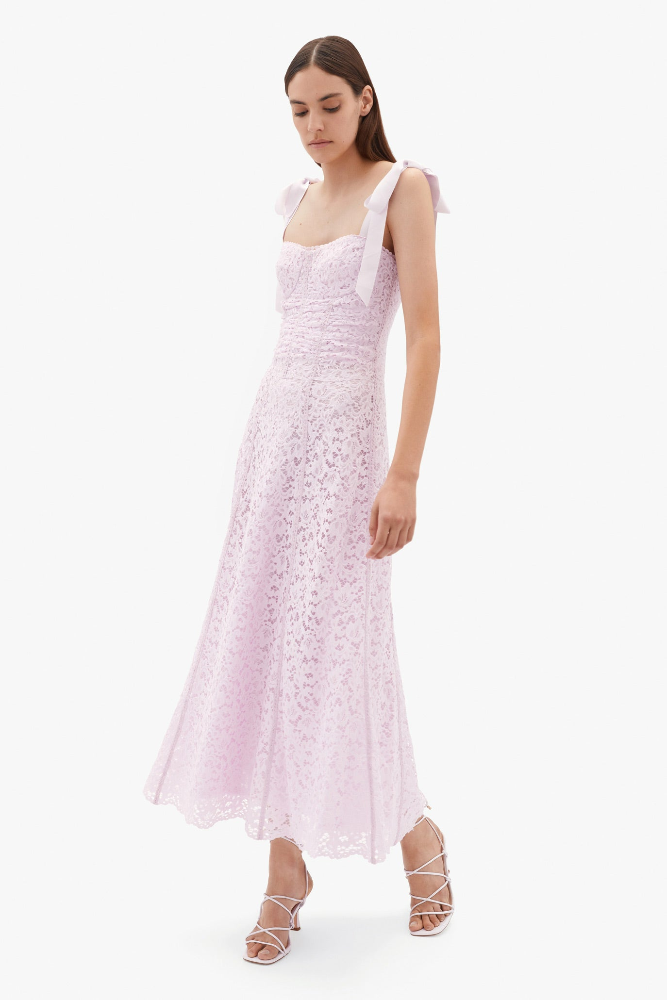 Poppy Corded Lace Midi Dress