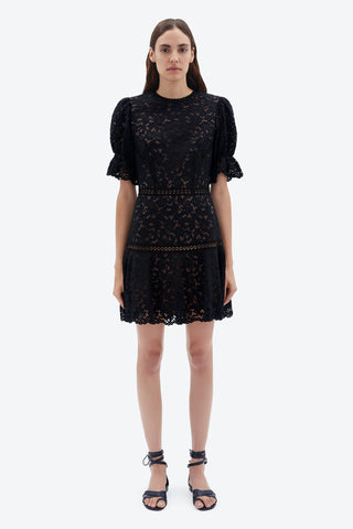Holly Corded Lace Mini Dress