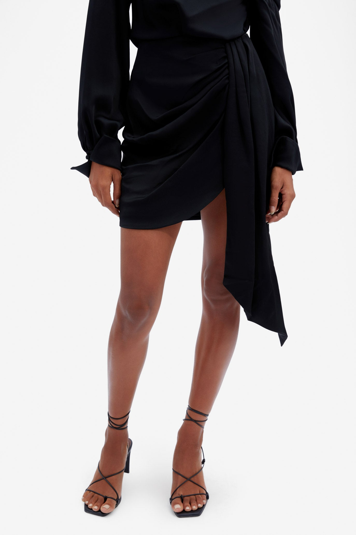 Mae Draped Mini Skirt