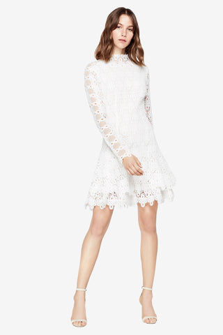 GUIPURE LACE L/S MINI DRESS