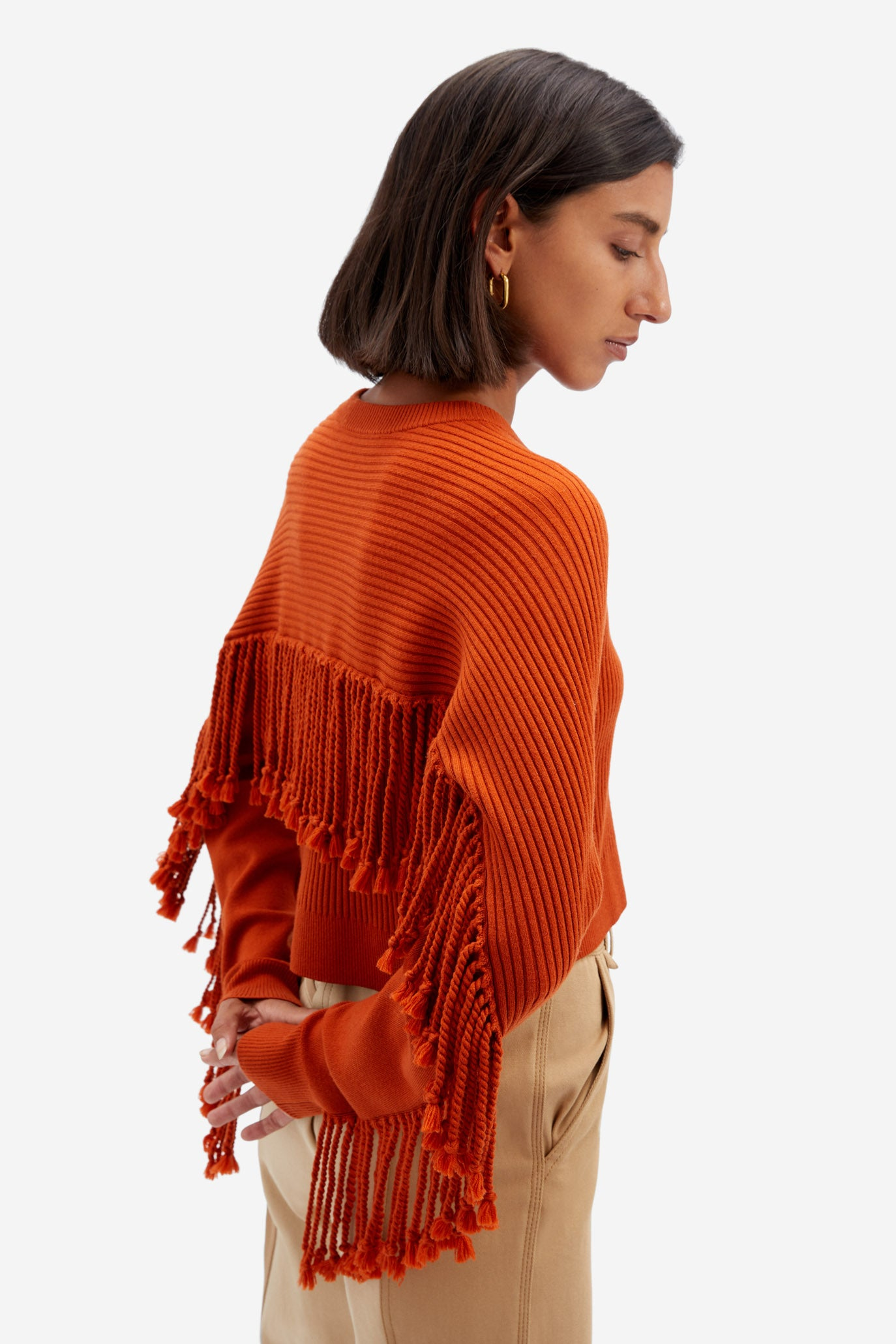 Hannah Fringe Sweater