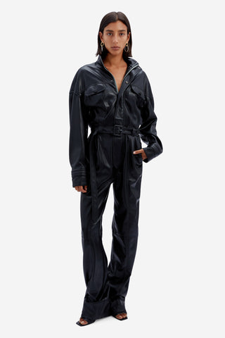 Katerina Vegan Leather Jumpsuit