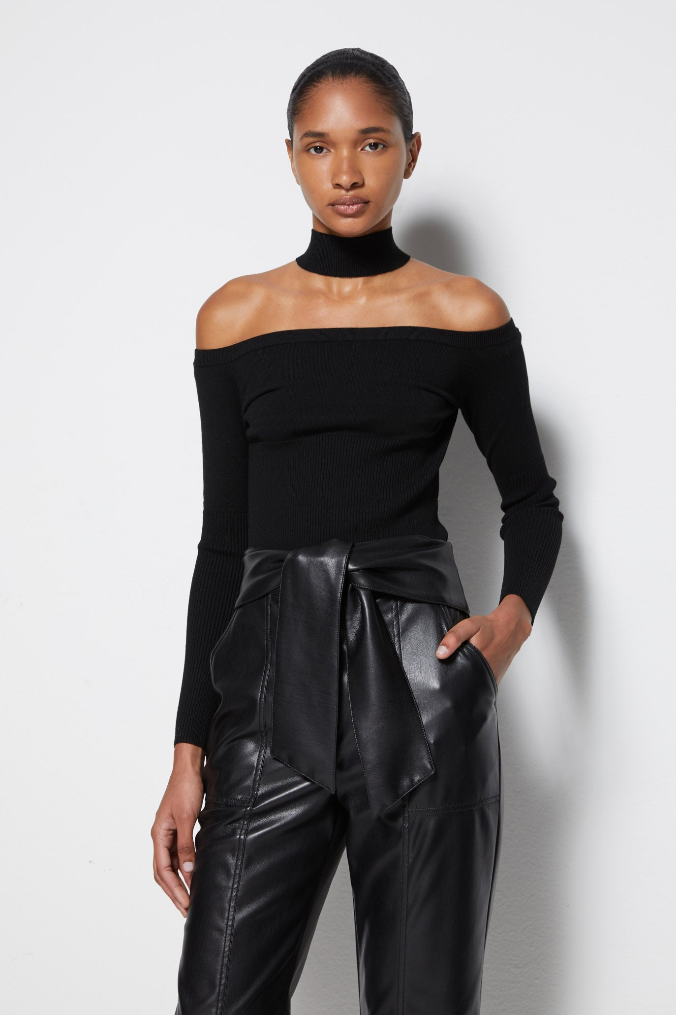 Lila Signature Cold Shoulder Pullover