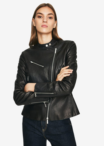 Signature Leather Moto Jacket
