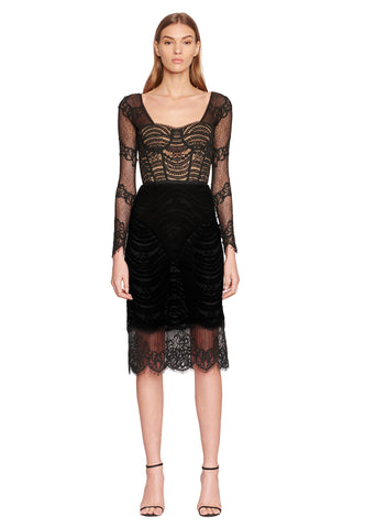 Mixed Lace Bustier Dress