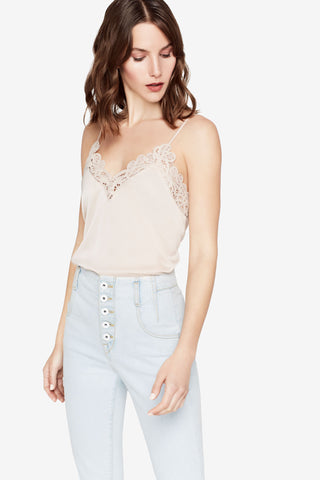 THREADED LACE CAMISOLE TOP