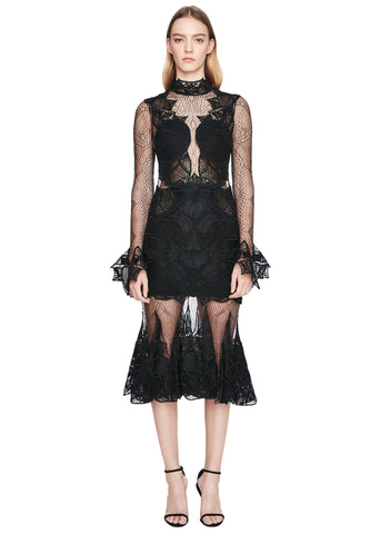 Linear Dome Lace Contour Dress