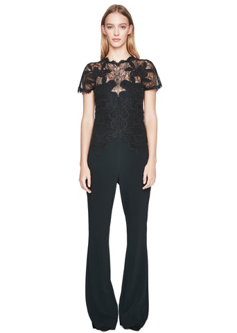 Dimensional Appliqué Jumpsuit