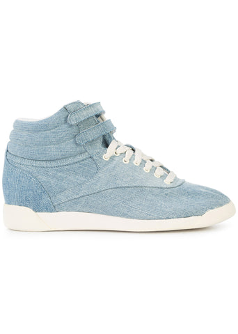 Reebok x Jonathan Simkhai - Chambray Denim Freestyle Hi