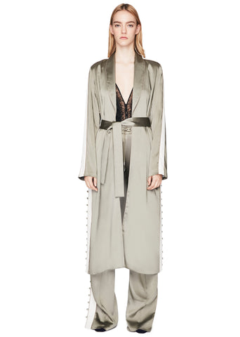 Deconstructed Satin Robe
