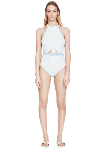 Halter Snap Front One Piece