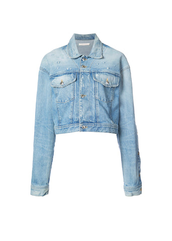 Buttondown Denim Crop Jacket