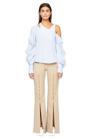 Twill Tailored Front Slit Staple Pant