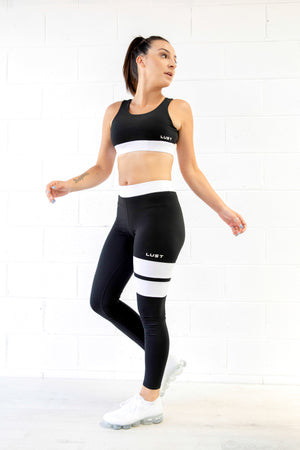 BLACK CROP + LEGGING SET