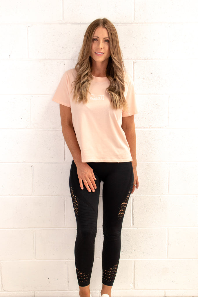 Pale Pink Casual Tee