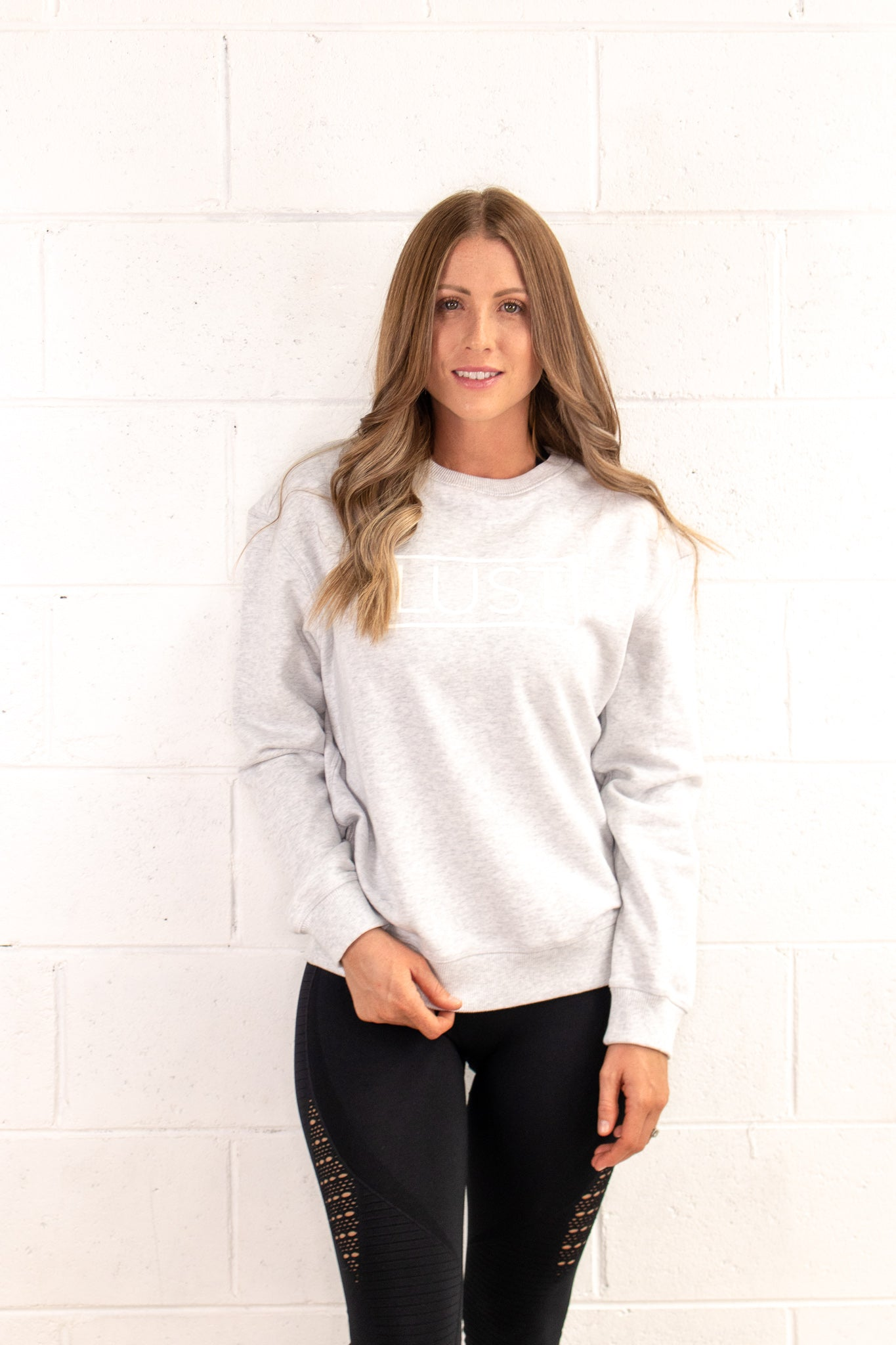 Classic White Marle Sweater