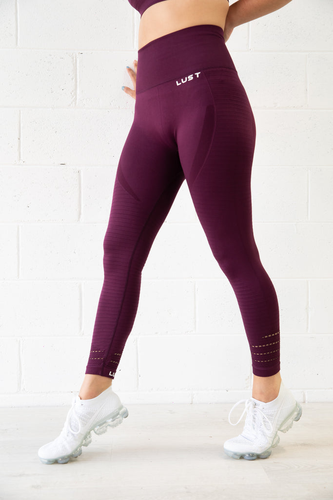 HIGH WAIST PLUM LEGGING