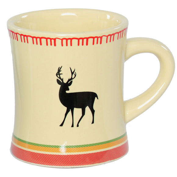 White Deer Coffee Mug I Outside Inside Gifts and Games