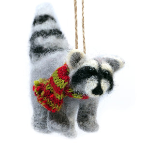 felt raccoon ornament - Outside Inside Gifts