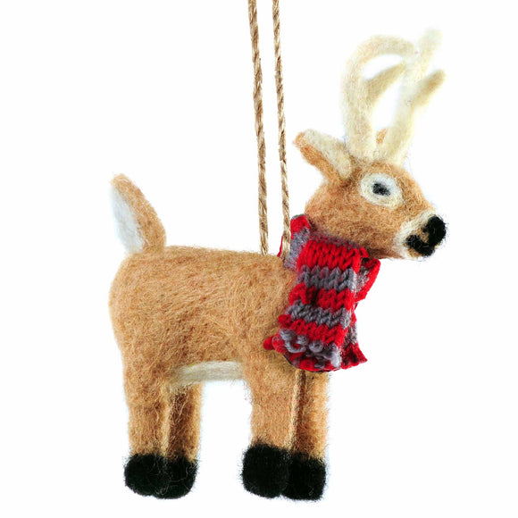 FELT WHITE TAIL DEER - Outside Inside Gifts