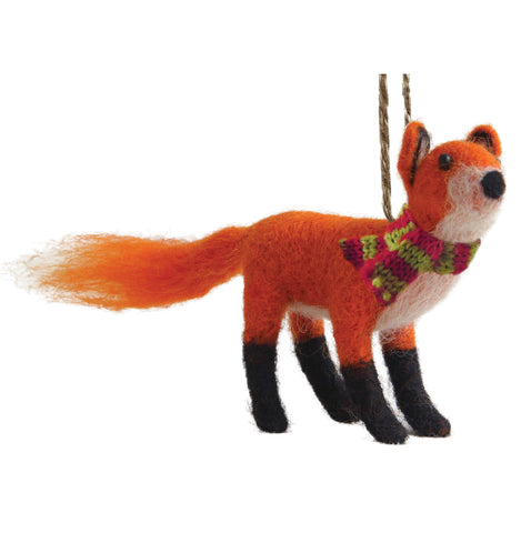 FELTED RED FOX ORNAMENT