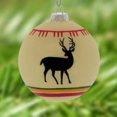 WHITE DEER CHRISTMAS TREE ORNAMENT