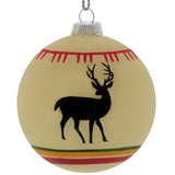 WHITE DEER TREE ORNAMENT - Outside Inside Gifts