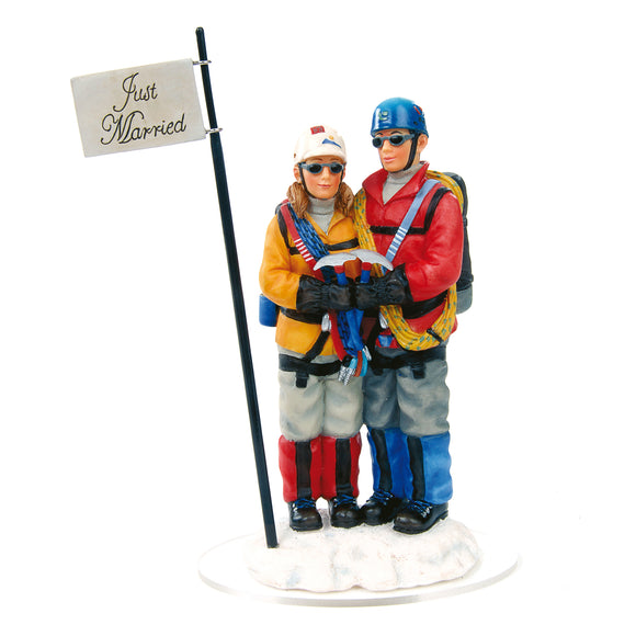 Mountaineer Climber Couple Cake Topper - Outside Inside Gifts and Games