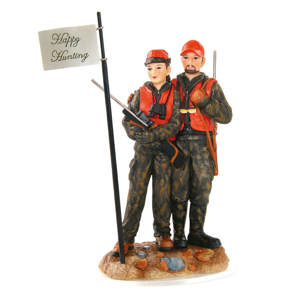 Deer Hunting Couple Cake Topper I Outside Inside Gifts and Games