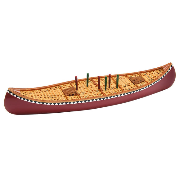 Outside Inside Classic Canoe Cribbage Board, play cribbage with friends on these unique outdoor inspired cribbage boards