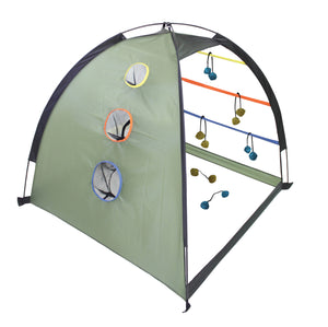Dome Tent Ladderball and Cornhole Games I Outside Inside Gifts and Games