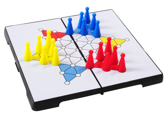 Folding Travel Chinese Checkers - Outside Inside Gifts and Games