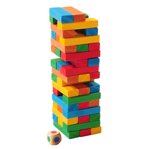 TRAVEL SIZE BACKPACK TUMBLING TOWER - Outside Inside Gifts and Games