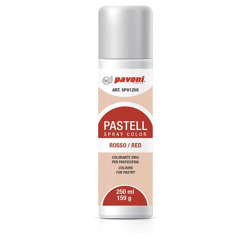 Colorante en spray pastel Rojo 150ml Pavoni -SP01- RicaItalia México