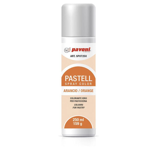 Colorante en spray pastel Naranja 150ml Pavoni -SP07- RicaItalia México
