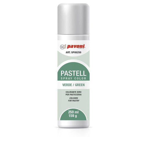 Colorante en spray pastel Verde 150ml Pavoni -SP08- RicaItalia México