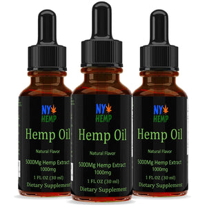 NY Hemp 5000Mg Natural Flavored Hemp Extract - Pain Plus Anti Stress Supplements Relief - Great for Pets Dogs and Cats. No CBD