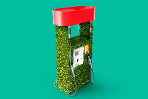 green gas pump- O2 Living blog makers of organic cold-pressed fruit and vegetable Living Juice'