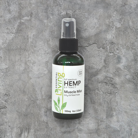 O2 Living Health and Wellness Hemp extract muscle mist has a variety of health benefits including relieving pain from sore muscles