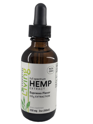 O2 Living - Living Hemp Extract Oil 250mg featuring organic full spectrum CBD