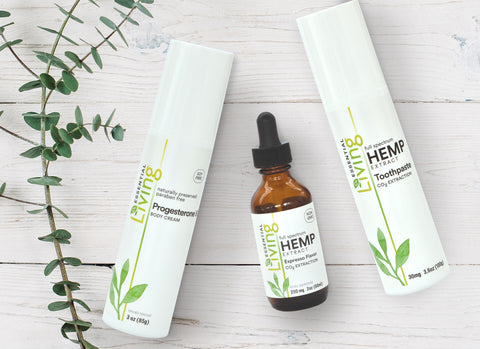 O2 Living Health and Wellness products feature USDA organic hemp extract for a variety of health benefits