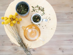 Organic green tea and flowers - blog by O2 Living makers of organic cold-pressed Living juice