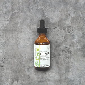 Living Hemp Extract Oil - Espresso Flavor - 1000mg