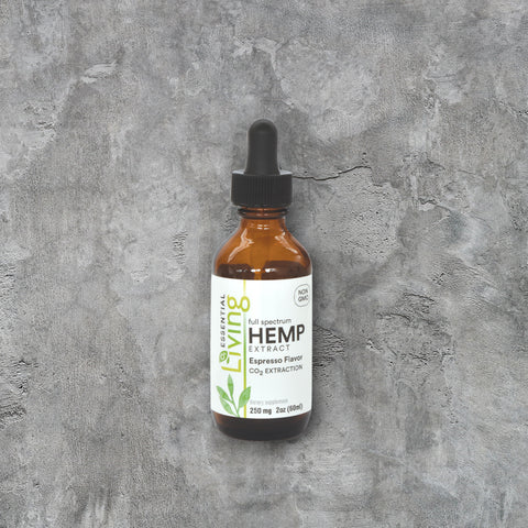 O2 Living Hemp Extract oil with possible stress relieving properties