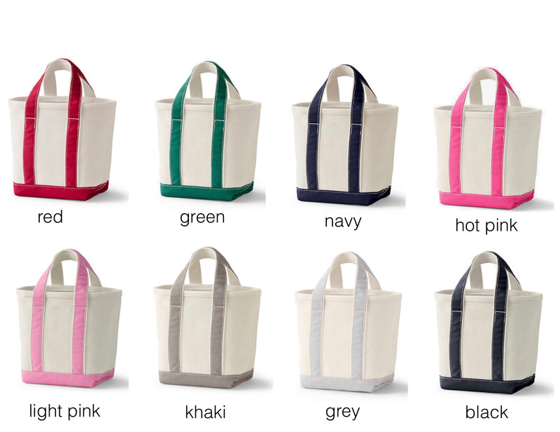 MINI LETTER BOAT TOTE - ASSORTED COLORS