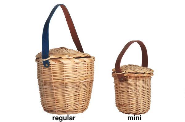 BIRKIN BASKET WITH ALLIGATOR HANDLES - MINI - MADE TO ORDER